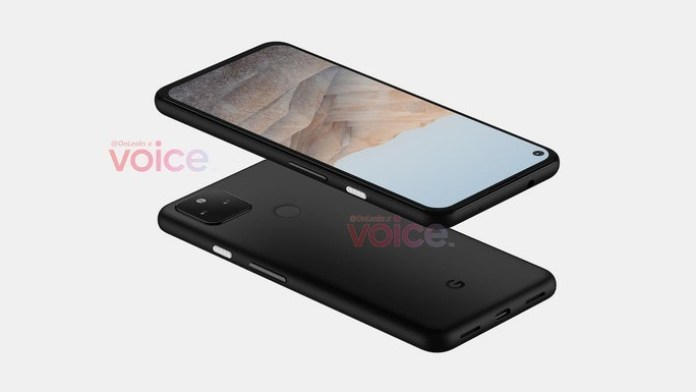This is the alleged design of the Google Pixel 5a.  Credit: Steve Hemmerstoffer