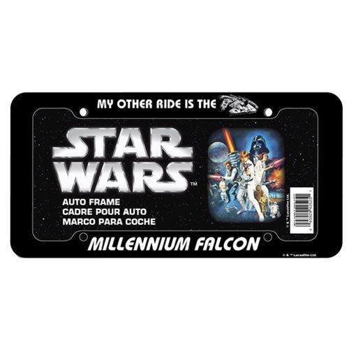 Star Wars Millennium Falcon Plastic License Plate Frame