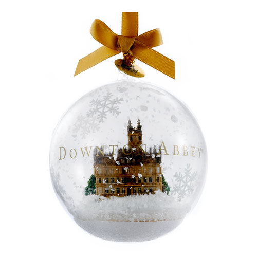 Downton Abbey Castle in Glass Holiday Ornament, Not Mint