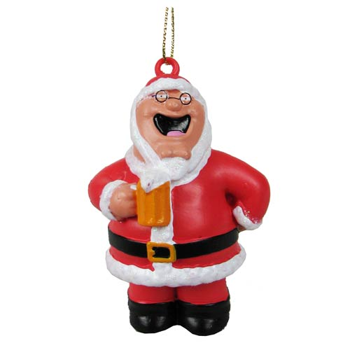 Family Guy Santa Peter Griffin Blow Mold Ornament