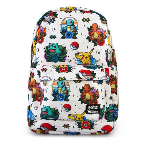 Pokemon Tattoo Print Backpack
