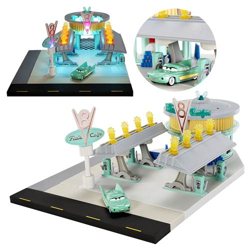 Cars Precision Series Flo's V8 Cafe Collector Playset