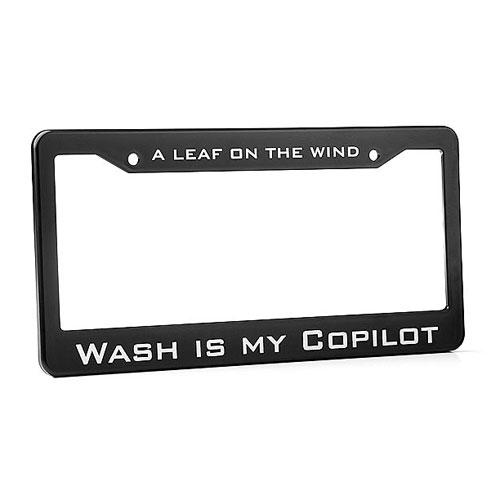 Firefly Wash Is My Copilot License Plate Frame, Not Mint