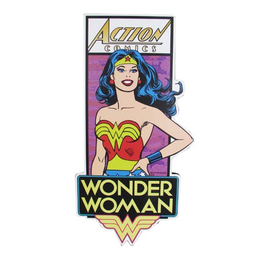 Wonder Woman Die-Cut Wood Wall Art