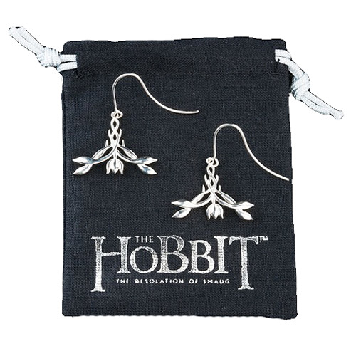 The Hobbit The Desolation of Smaug Silver Elven Earrings