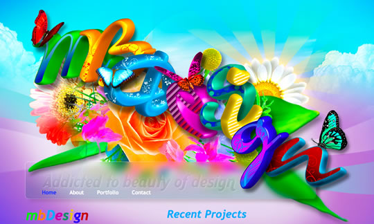 10 Colorful Website Design