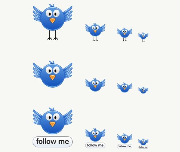 38 Twitter Icon Set