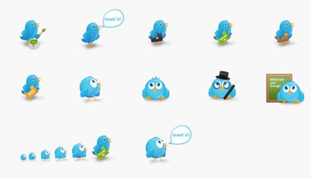 49 Twitter Icon Set
