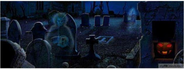 Spooky Cemetery Halloween Facebook Cover