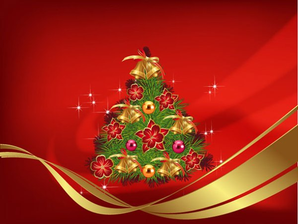free christmas wallpapers red