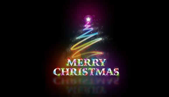 merry christmas wallpaper design