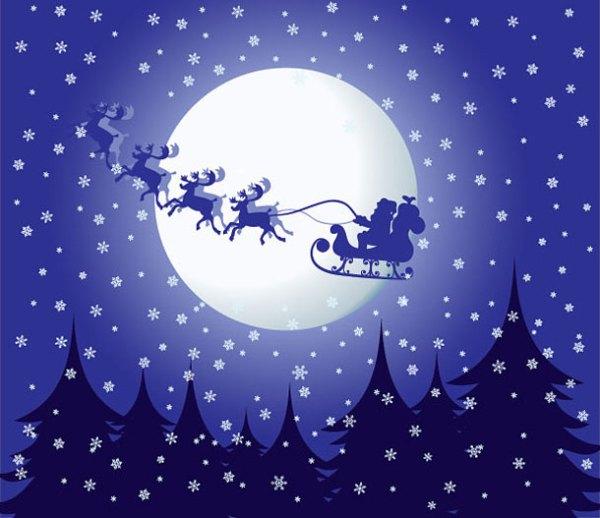 christmas illustration wallpaper