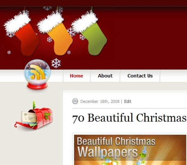 Christmas WordPress Theme For Free Download