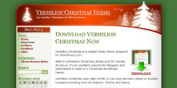 Vermilion Christmas Theme