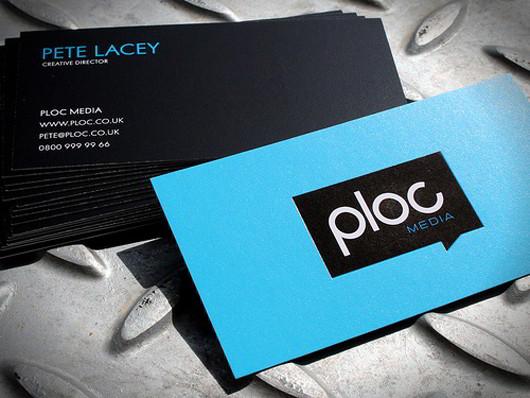 Blue Business Card Design