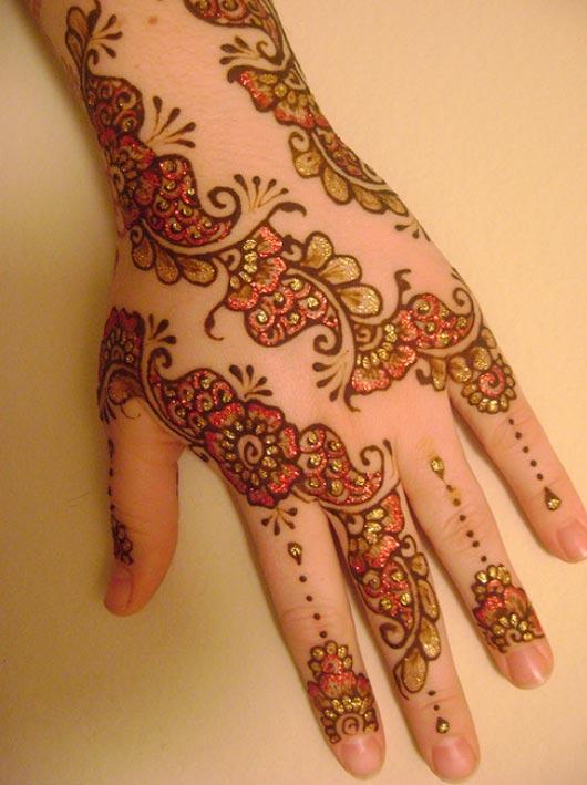 Henna with gilding