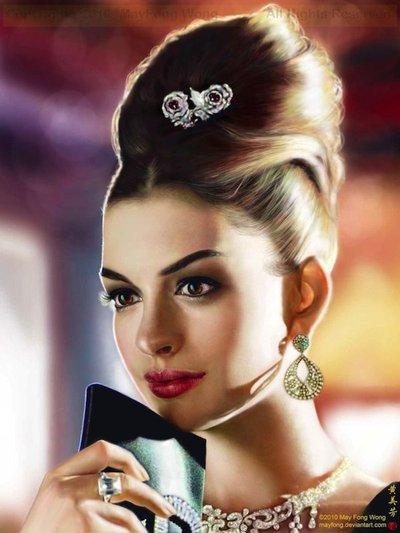 Digital Painting - Anne Hathaway
