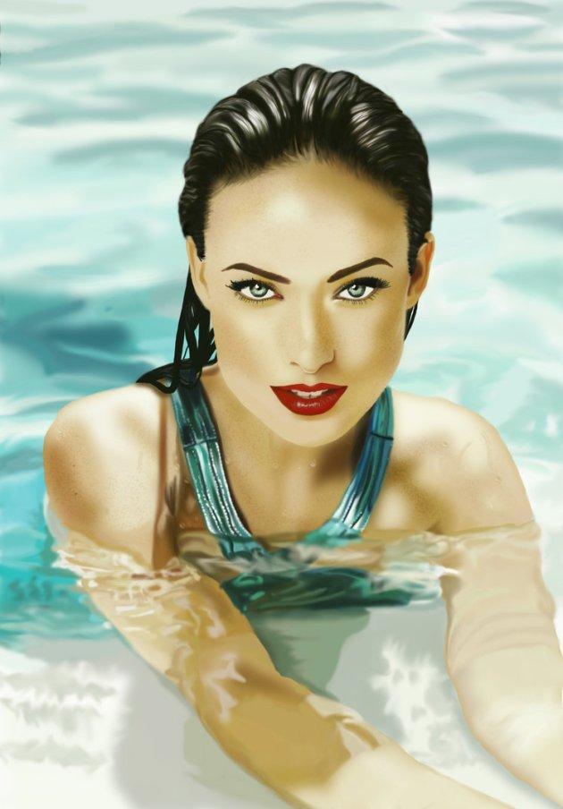 Digital Painting - Olivia Wilde