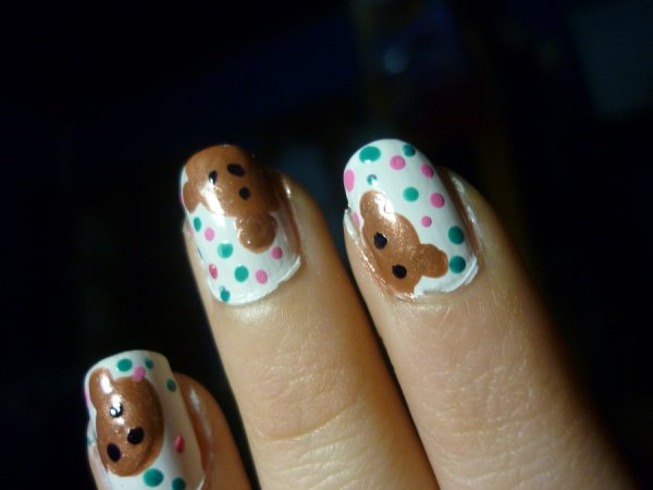 bears and candy nails