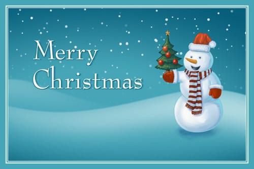 A Christmas greeting card