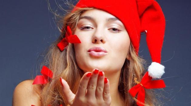 Christmas Beauty Model Hd Wallpaper