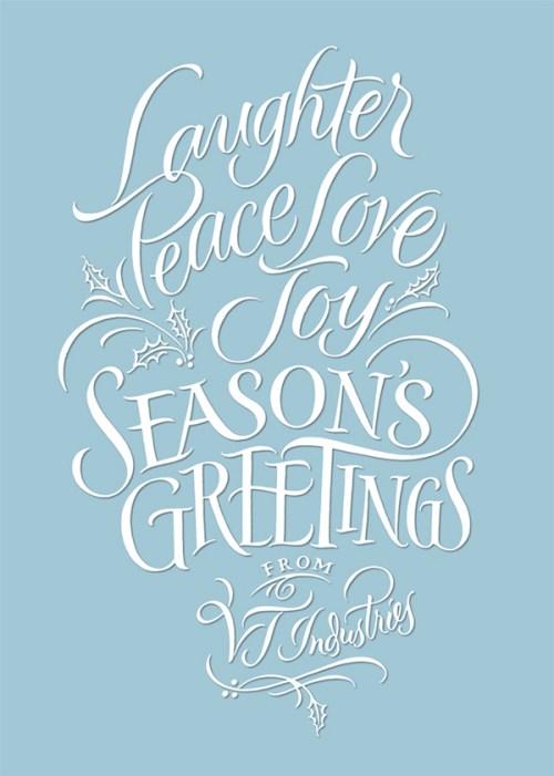 Holiday Card: Brush Calligraphy