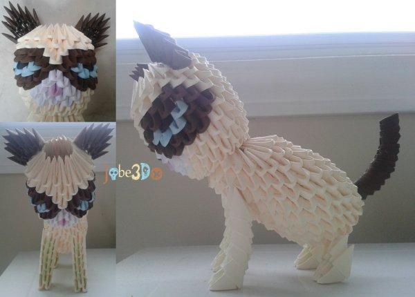 3D Origami - Grumpy Cat