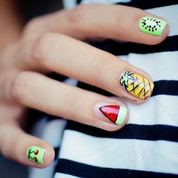 Tutti Fruity nail design