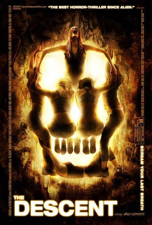 The Descent creative movie poster design