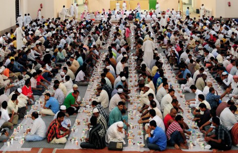 Muslim In Saudi Arabia Breaking Fast Ramadan
