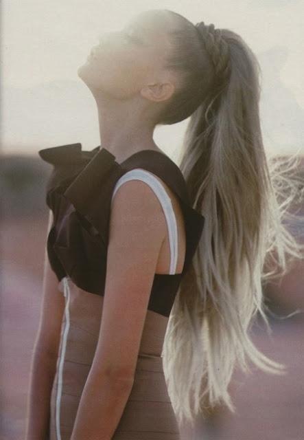 Ponytail for long hair