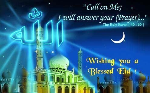 wishing you blessed eid