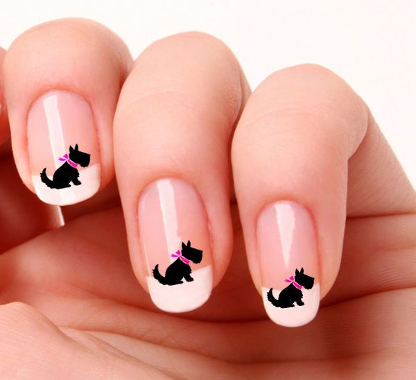 15 black and white nails