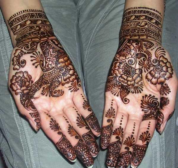 arabic mehndi design on hands