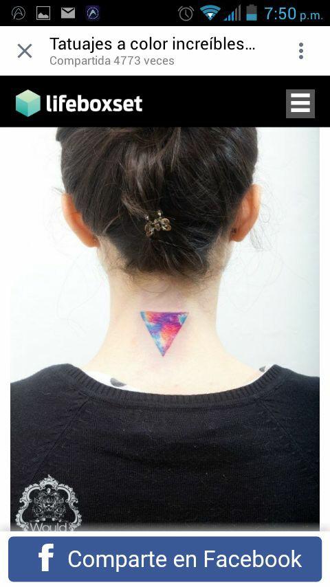 cute triangle tattoo