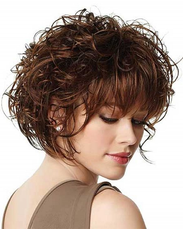short curly bob hairstyles with bangs