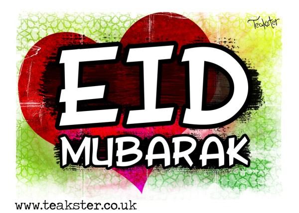 heart beating Eid Mubarak