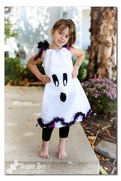 ghost pillowcase dress for halloween