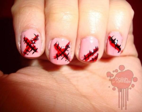spooky diy halloween nail art