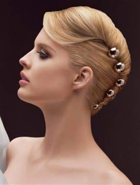 Awesome Wedding Hairstyle In French Twist