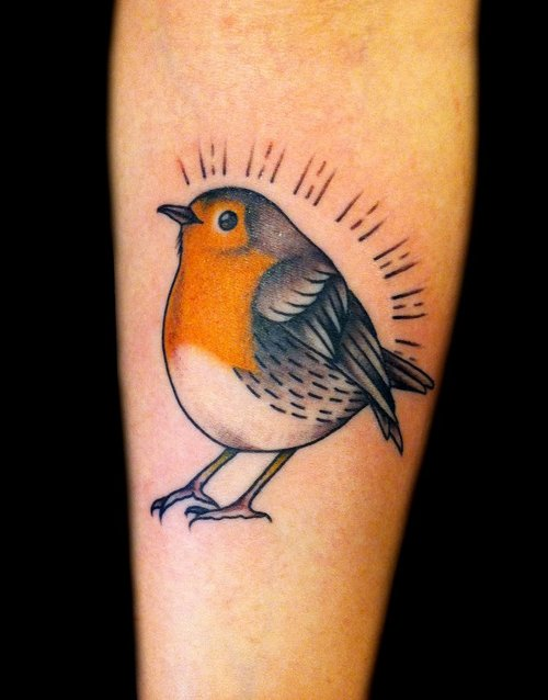 Small Innocent Bird Tattoo