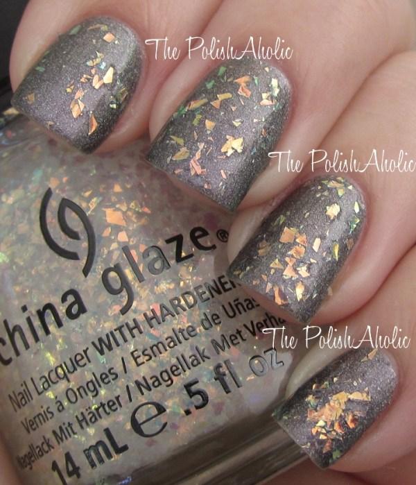 china glaxe lush glitter manicure