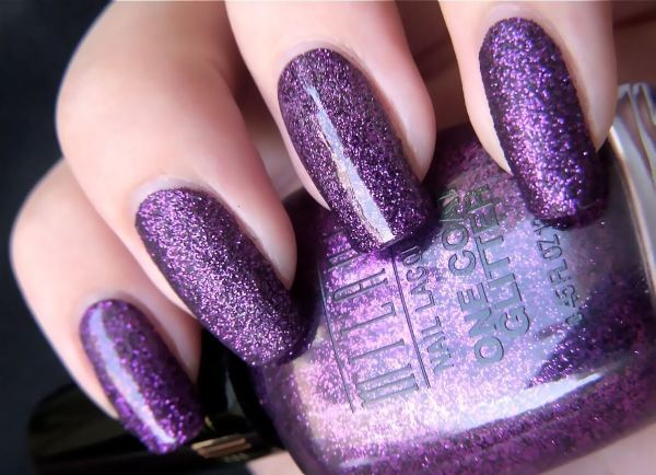 purple color nail designs