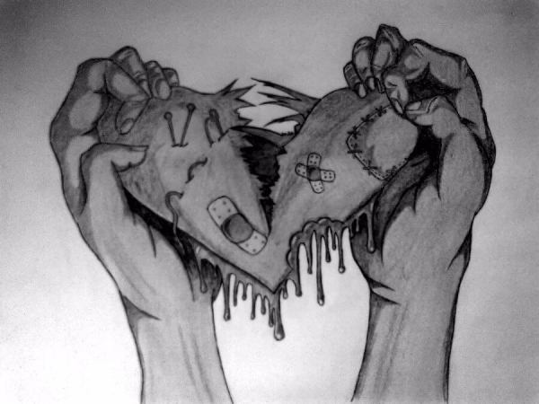 can't stitch the broken heart