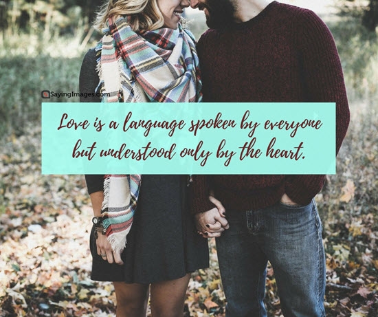 language of love quote picture