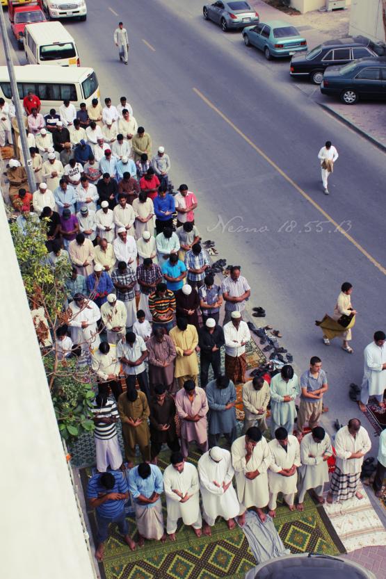 friday prayer in street