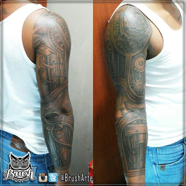 electrical full sleeve tattoo pattern