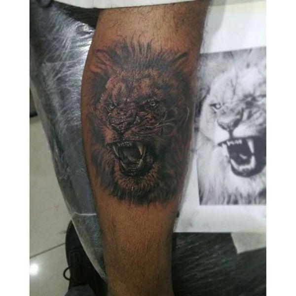 lion tattoo ideas for black men