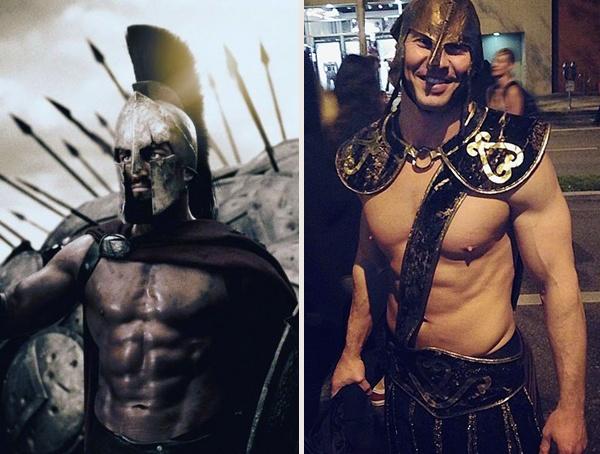 Gerard Butler Leonidas from Spartan 300 Halloween Costume