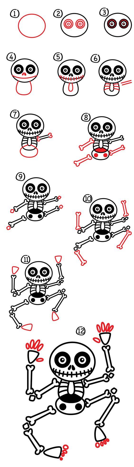 Cool Step by step Skeleton